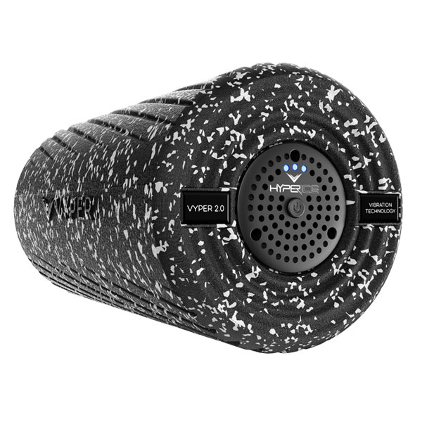 The VYPER 2.0Grey Camo is the next generation of the world's most powerful vibrating fitness roller. The award winning VYPER 2.0 features 3 speeds of high-intensity vibration and a dual-zone smooth and grooved German engineered exterior. The VYPER 2.0 allows you to warm up, activate and recover faster and more effectively than any other roller. Used daily by the world's best athletes.  > Optimal self myofascial release tool to increase flexibility, circulation, and reduce muscle soreness > Three vibration settings transmit superior amplitude and vibration for physiological benefits > Hyperice's vibration technology combined with our battle tested shell penetrates deeper for muscle activation > 2x more effective than regular foam rolling to warm up and actively recover > Increase range of motion by up to 40% (versus 18% increase with regular foam rolling) > Rechargeable lithium-ion batteries give over two hours of use per charge  Technology specifications and features > Three Vibration frequency levels: 45, 68, 92 HZ > Most powerful vibrating roller on the market, maintains its superior amplitude and G-force even when body mass is applied. (6.9, 7.8, and 8.8 G-Force) > Dual-zoned exterior shell: smoothed and grooved exterior design for a more customized roll > All digital circuitry controls 3 high-intensity vibrating speed settings > Eco-friendly, poly-propylene outer shell transfers maximum vibration > Rechargeable lithium-ion batteries give over 2 hours of use per charge > Travel-friendly, TSA approved as carry-on > 1 year warranty included (See Customer Support for warranty details)  Physiological benefits behind our vibration > Loosen and lengthen muscles to increase flexibility > Increase circulation- ideal for warming up the body before physical activity > Reduce muscle soreness and stiffness for better recovery > Significant reduction in pain associated with myofascial release  Watch instructional video  Learn more here