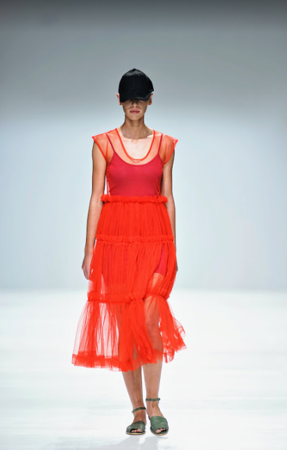 Triple Tulle Frill Dress