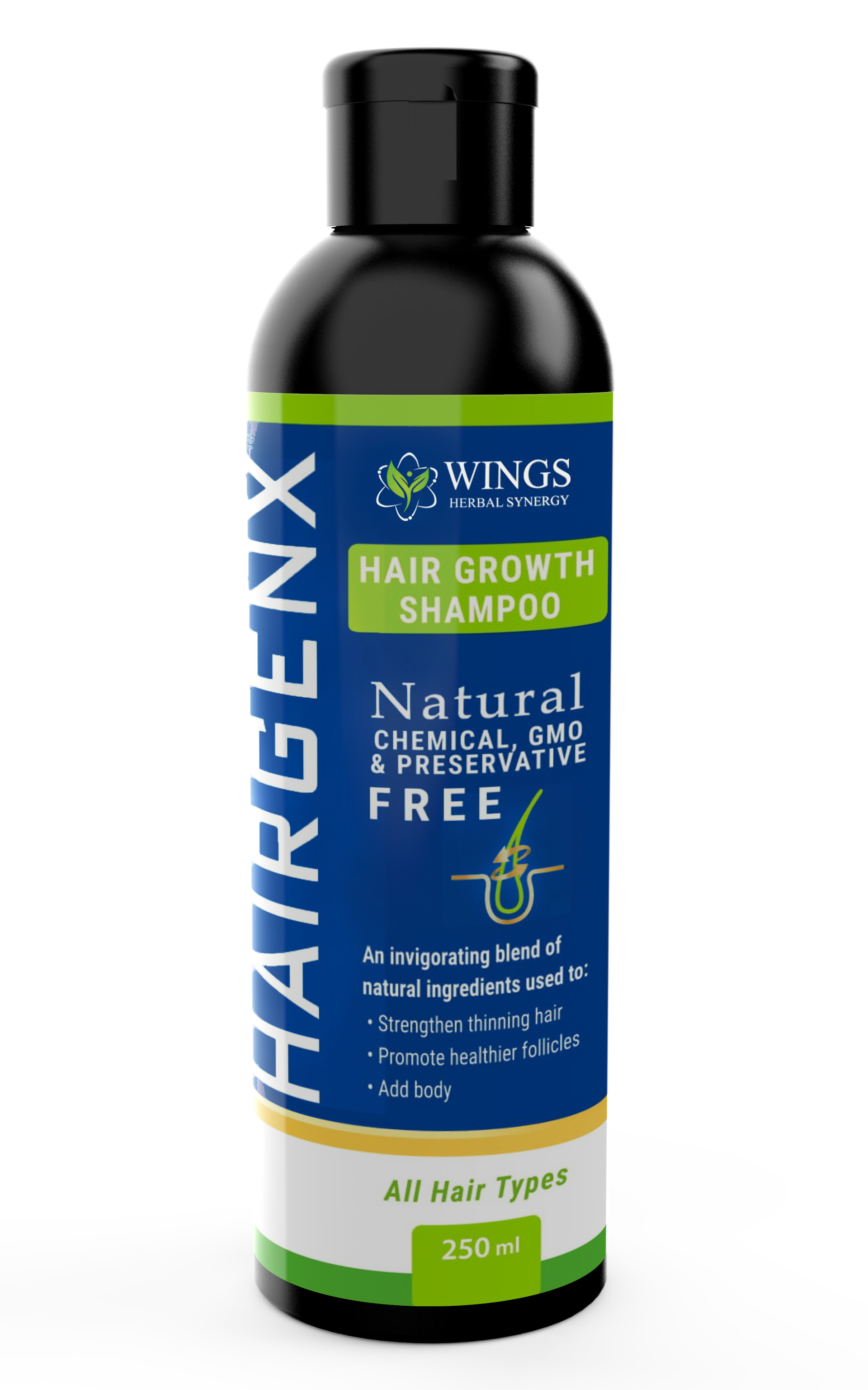 Hairgenx Shampoo for Thinning Hair 250ml