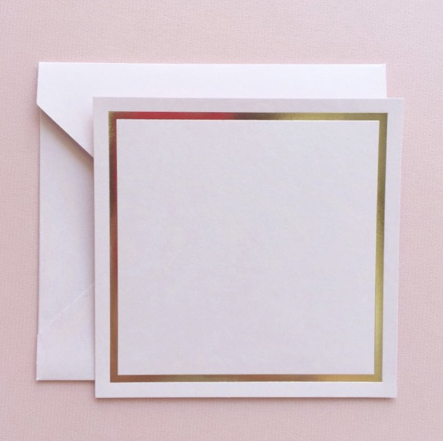 Minimalist Notecards: Blush