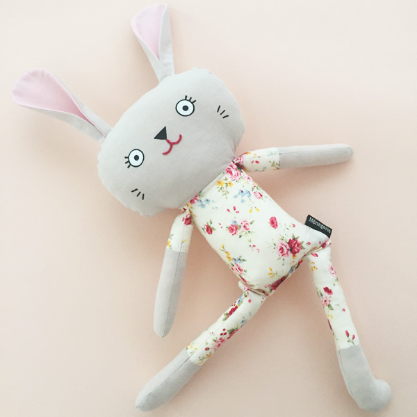 Pyjama Bunnies are friendly companions from playtime to sleep time! They are available in a wide range of limited edition fabrics and will steal your heart with their kooky smile. Pyjama Bunnies are safe for little ones as they have no loose parts. That makes them the perfect gift for an expectant mama or the little hooligans in your life.