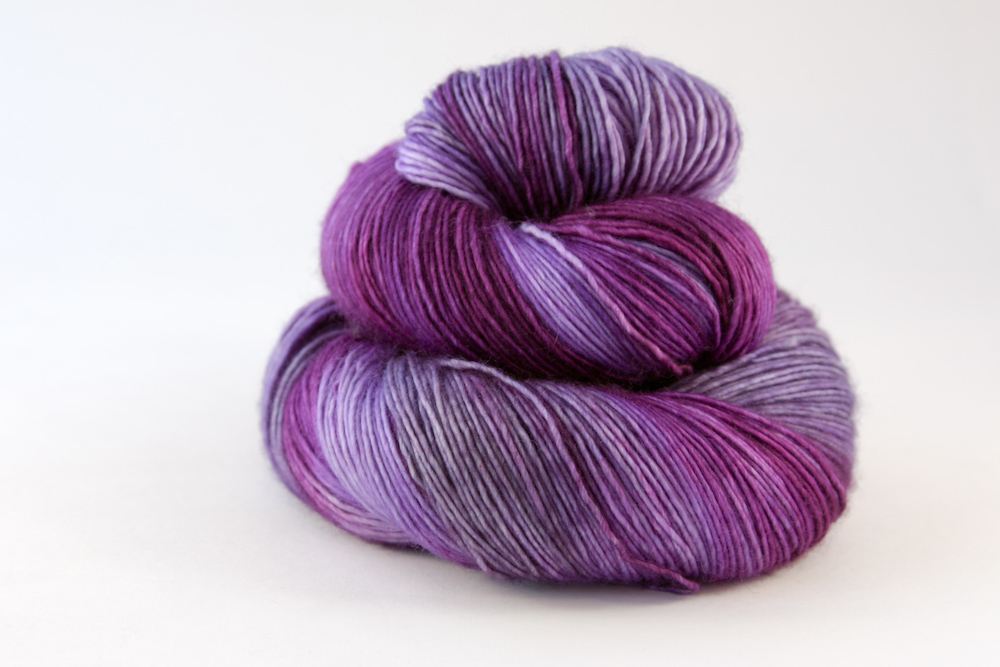 Colour - variegated bright plum, violet, lavender, tanzanite