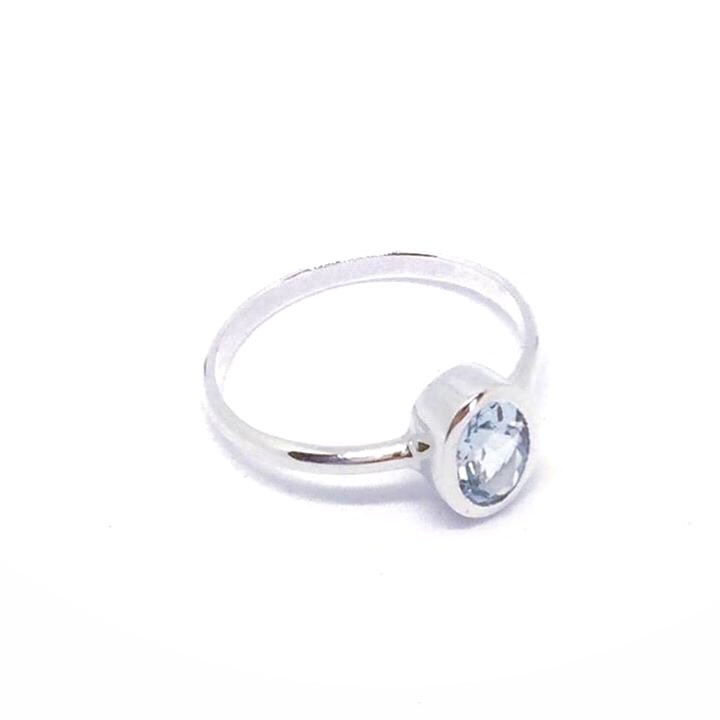 The Rosie Ring can be ordered with any gemstone of choice.  Please email us for a quote if you would like a different gemstone.