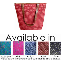 Zip close bag with 3 inner pockets (1 zip pocket)  Available in: