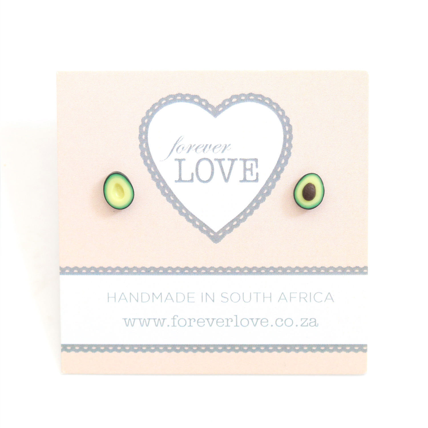 Avo Polymer Clay stud Earrings