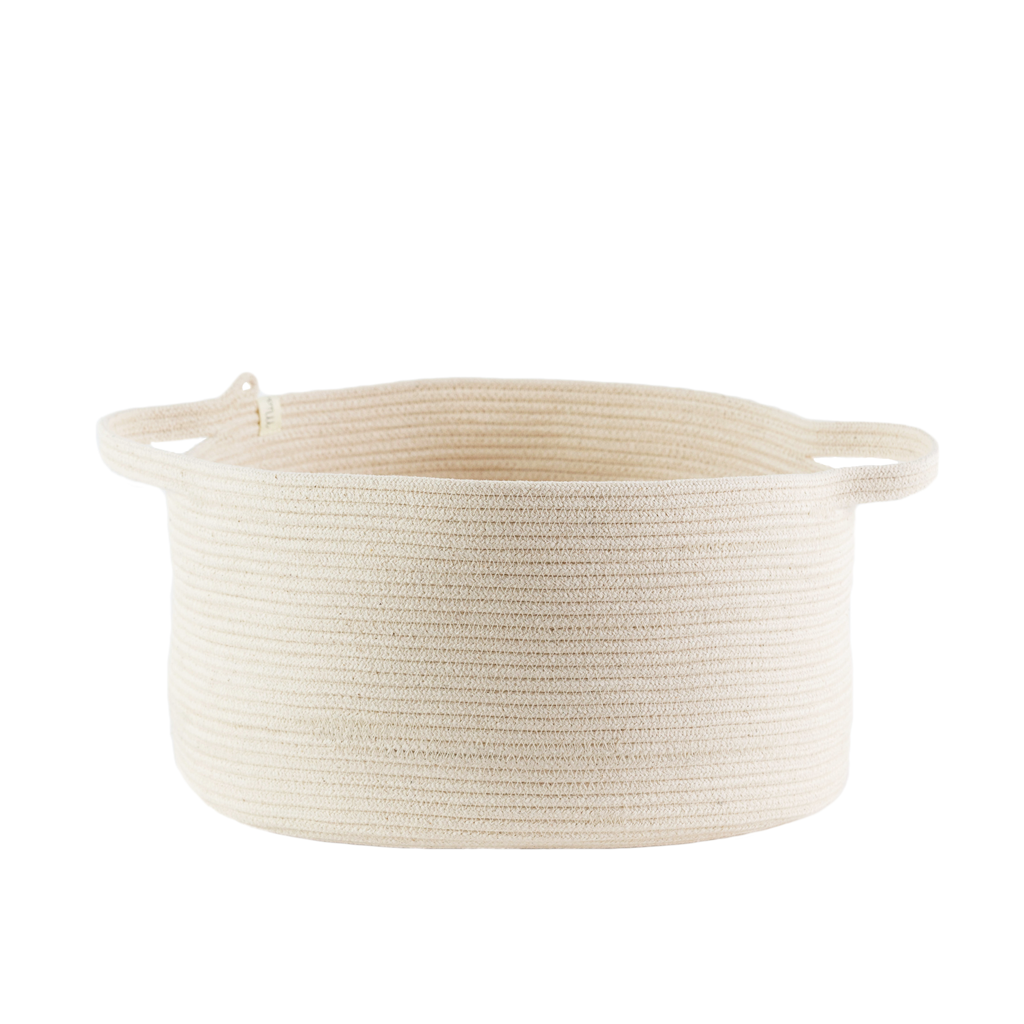 Handle Basket - ivory