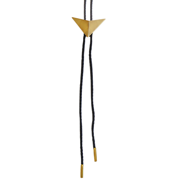 Brass Unisex Bolo Ties / Texan Ties on black or brown leather