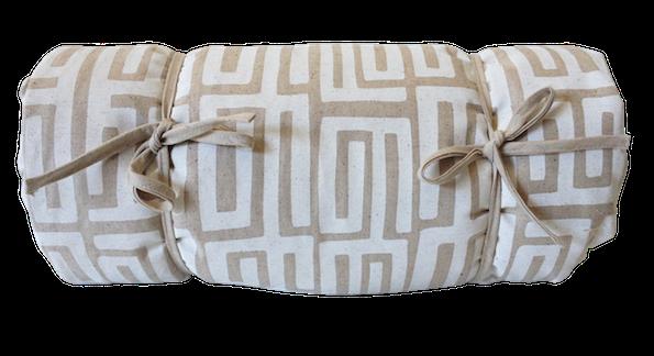 Picnic Blanket - Kuba Kuba (White on Natural)