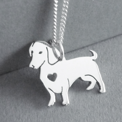 Dachshund Pendant on Chain