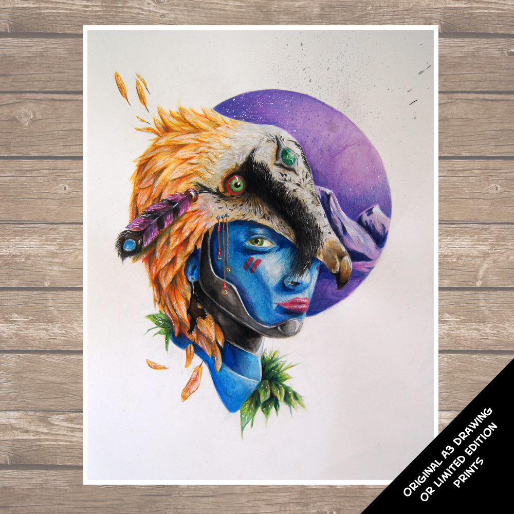 The Blues - Vulture Woman Illustration