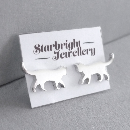 Kitty Stud Earrings