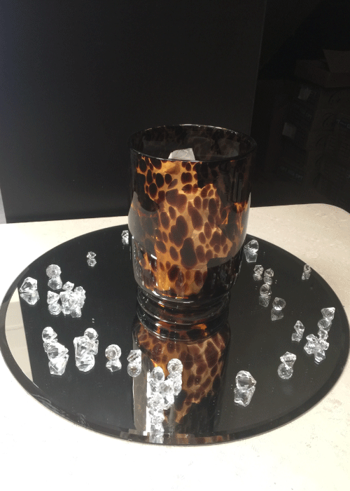 Animal Print Candle Holder/Vase