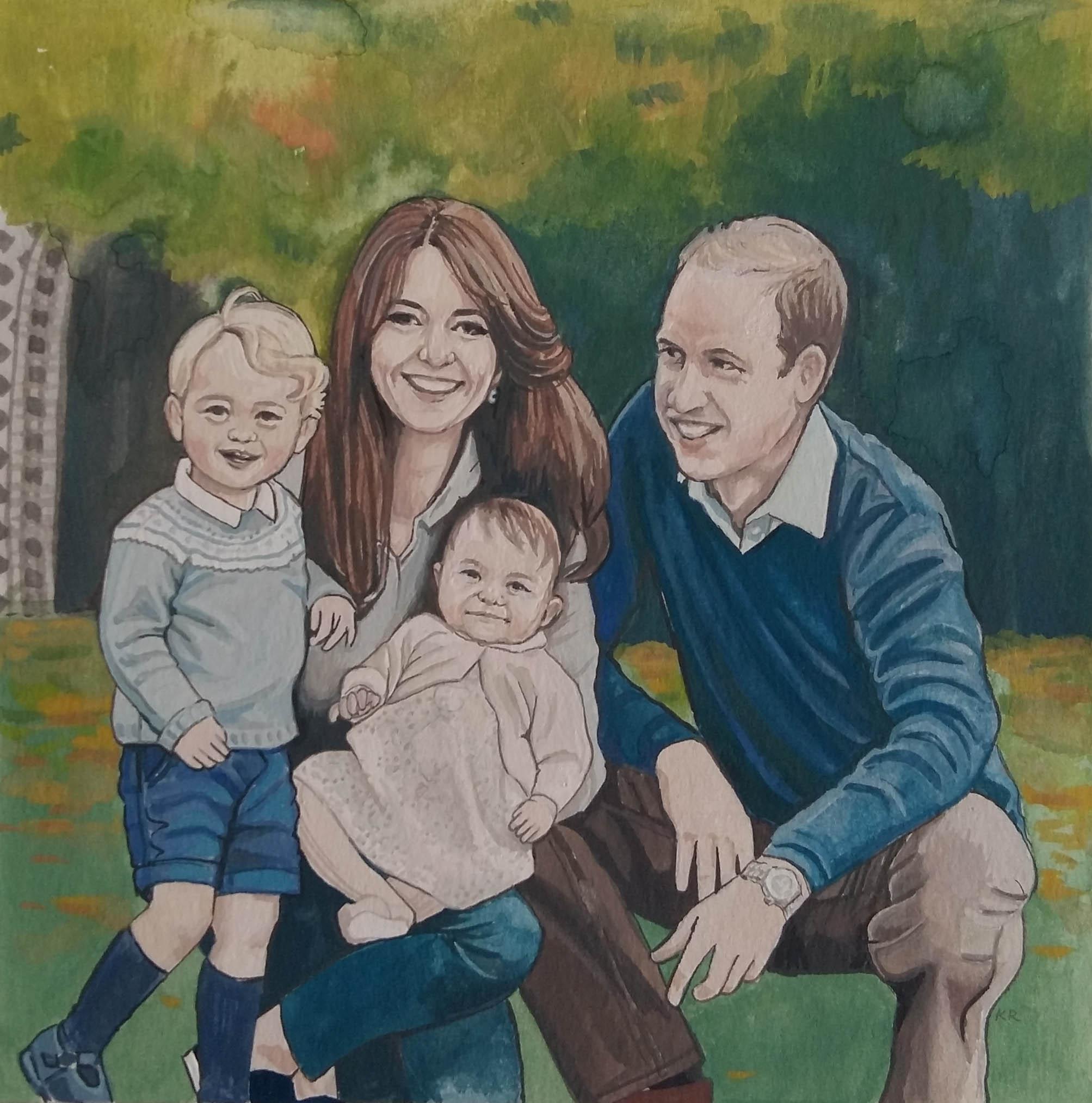 UNFRAMED Custom Family Portrait - Hand Painted