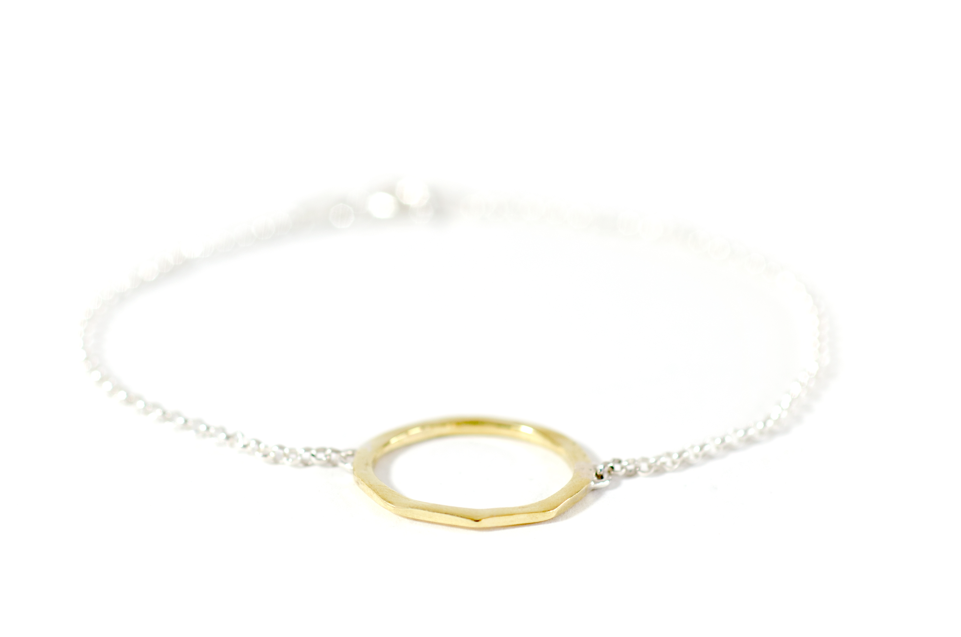 Circle Bracelet Silver and Brass