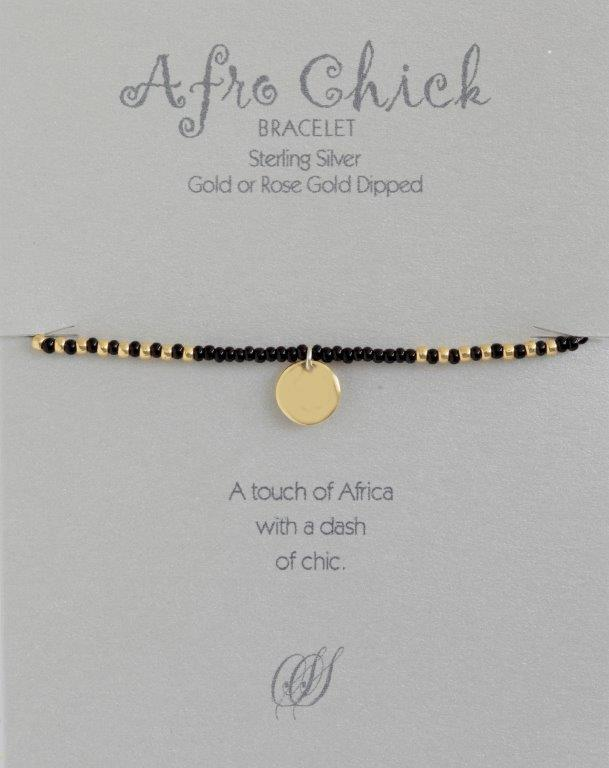 Afro Chick Bracelet - Gold and black