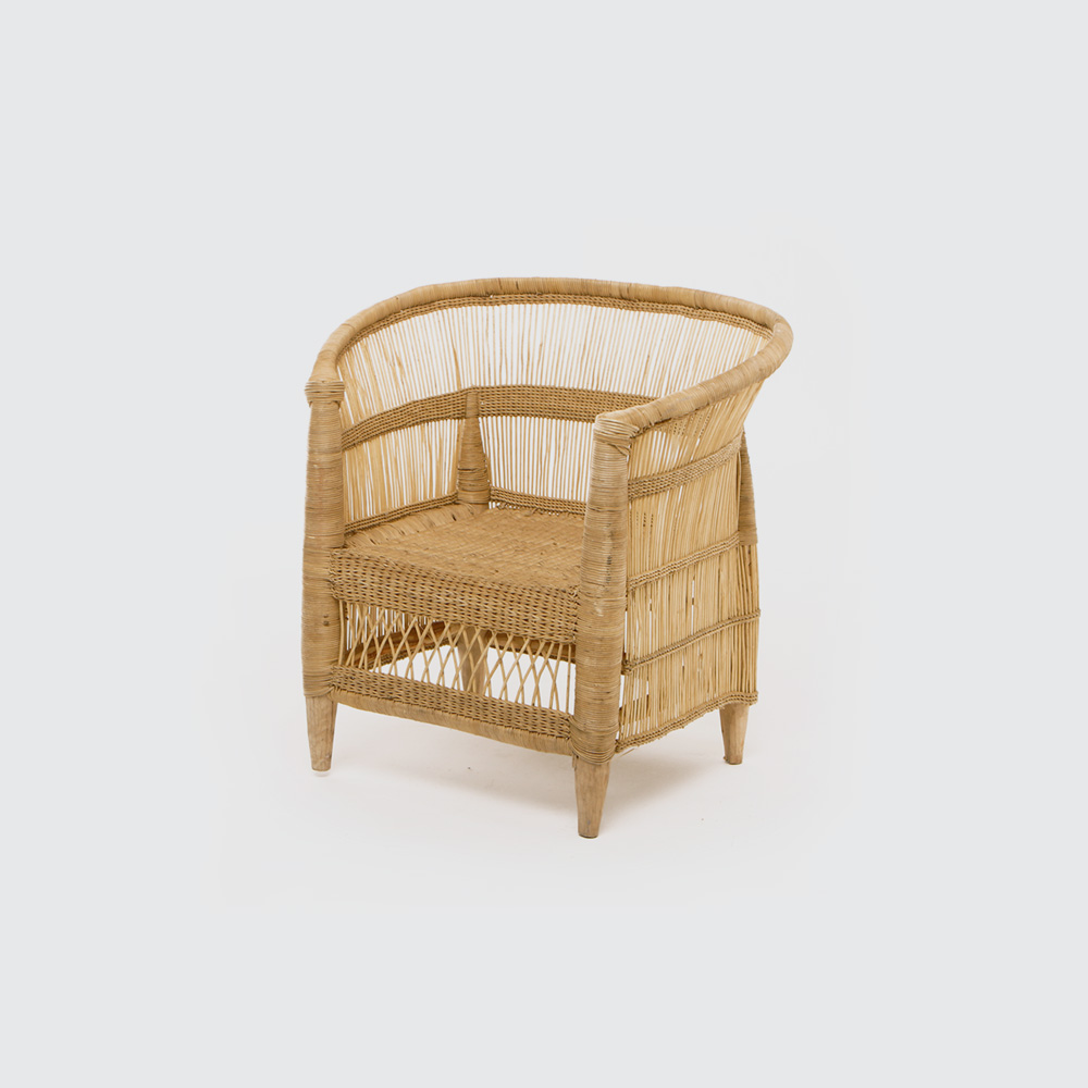 R 880  The Malawian Chair for the little ones. Supported, comfortable, and just as stylish as the adult version.  REQUEST DETAILS  Material   Wood and Wicker   Dimensions  As these are hand made, sizes will vary slightly  Product code: