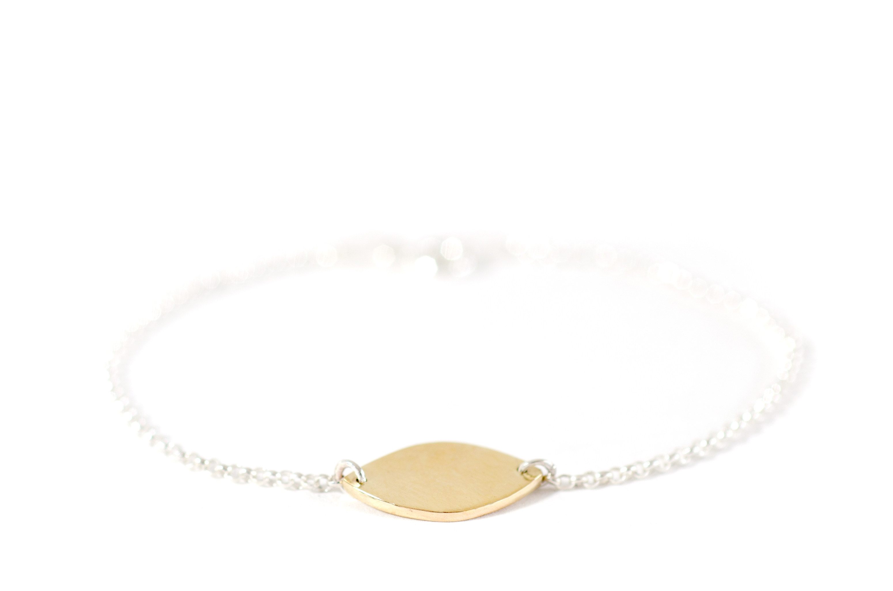Closed Drawing Bracelet Brass and Silver
