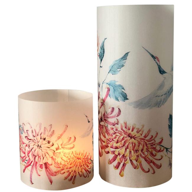 Paper lanterns - set of 2 - Crane