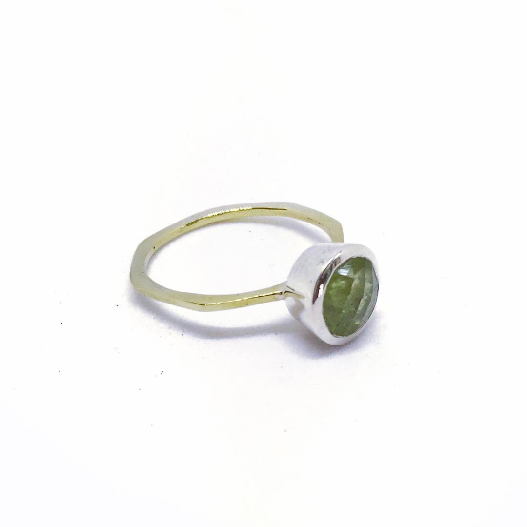 Our Lia Ring Can be made up with any gemstone of choice.  Please email us for a quote.