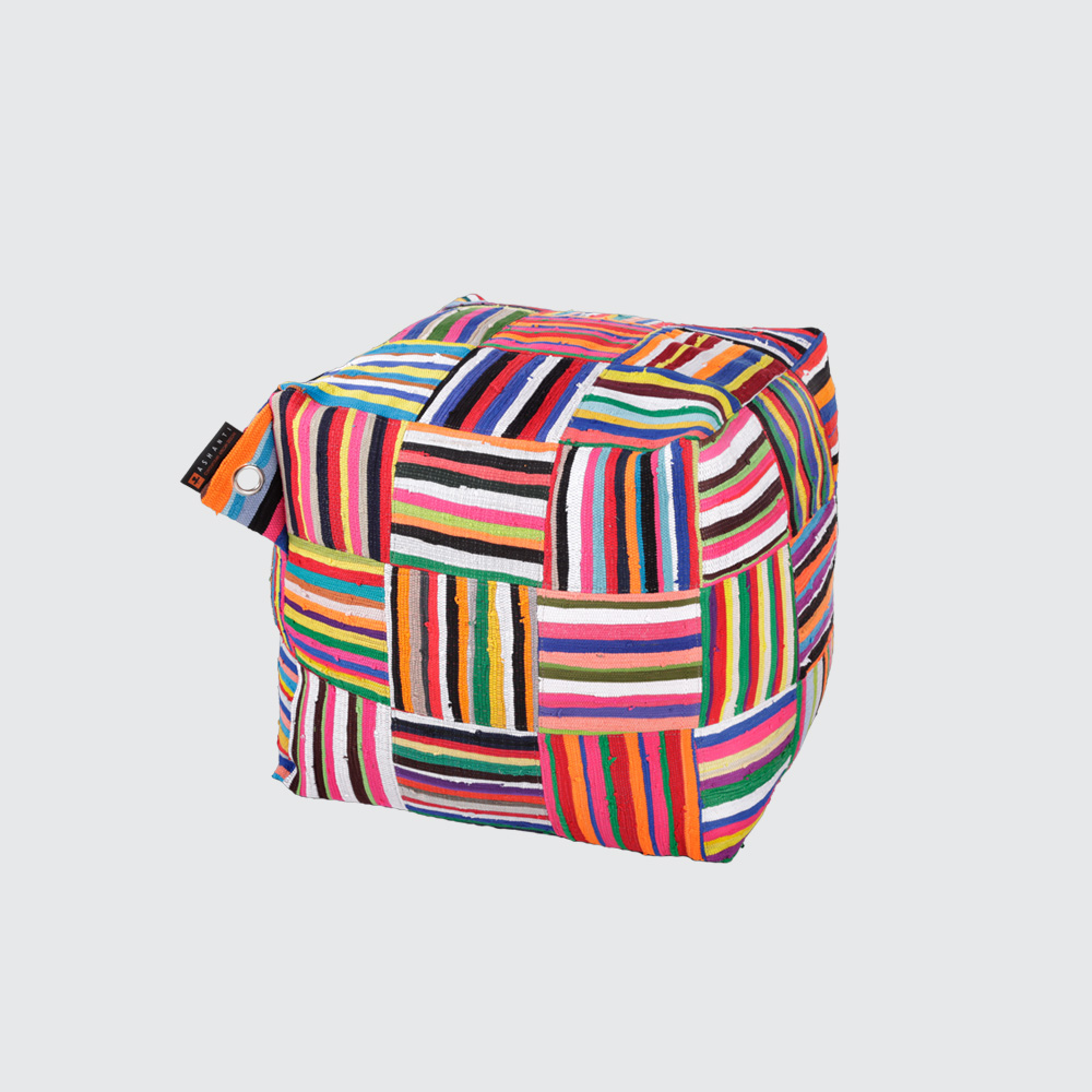More of a 'sit on' than a 'sit in', this soft but sturdy Bean Bag-style block makes a funky, comfy seat  REQUEST DETAILS  Dimensions   Filled: 600mm (l) x 600mm (w) x 600mm (h) Flat Pack: 380mm (l) x 410mm (w) x 65mm (h)   Product code:   Filled: BBC Flatpack: BBCFP