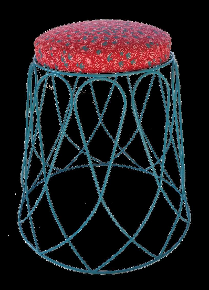 Loop Stool Turquoise