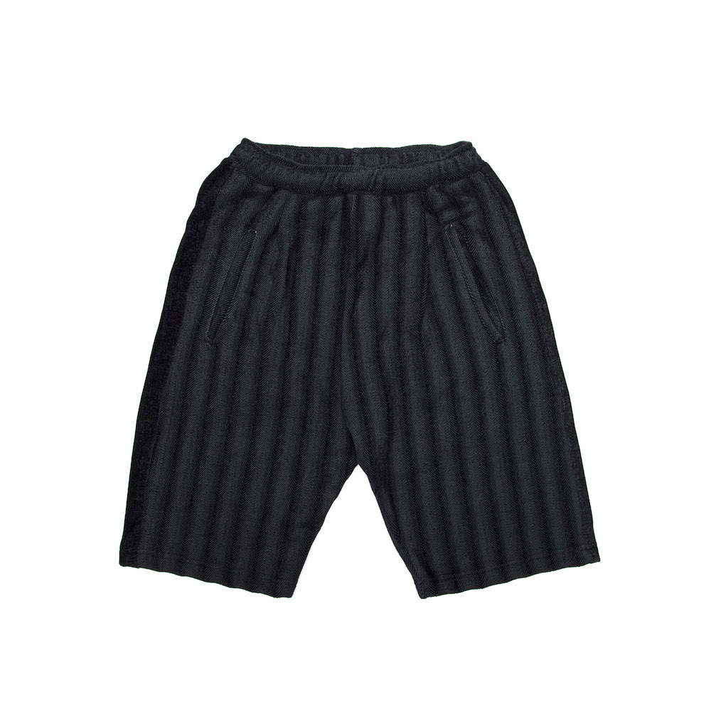 Dinner Shorts - Charcoal Herringbone