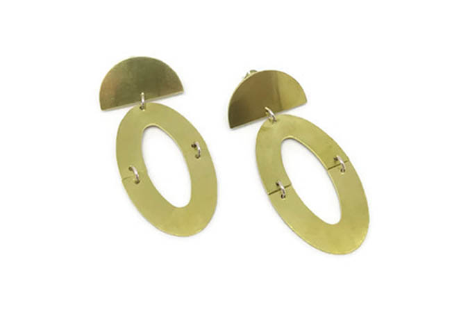 Halfround Geo earrings