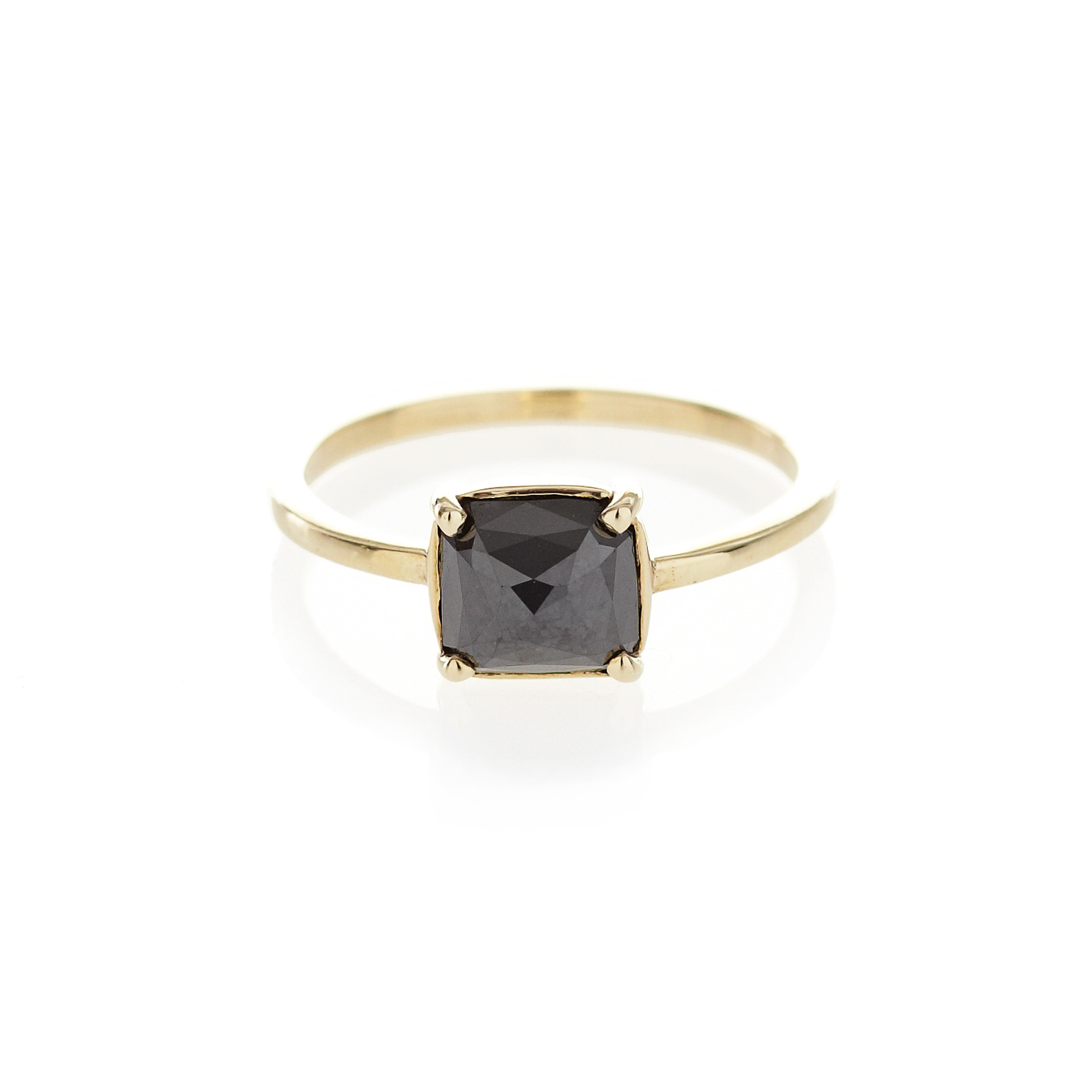 Claw set Black Diamond ring