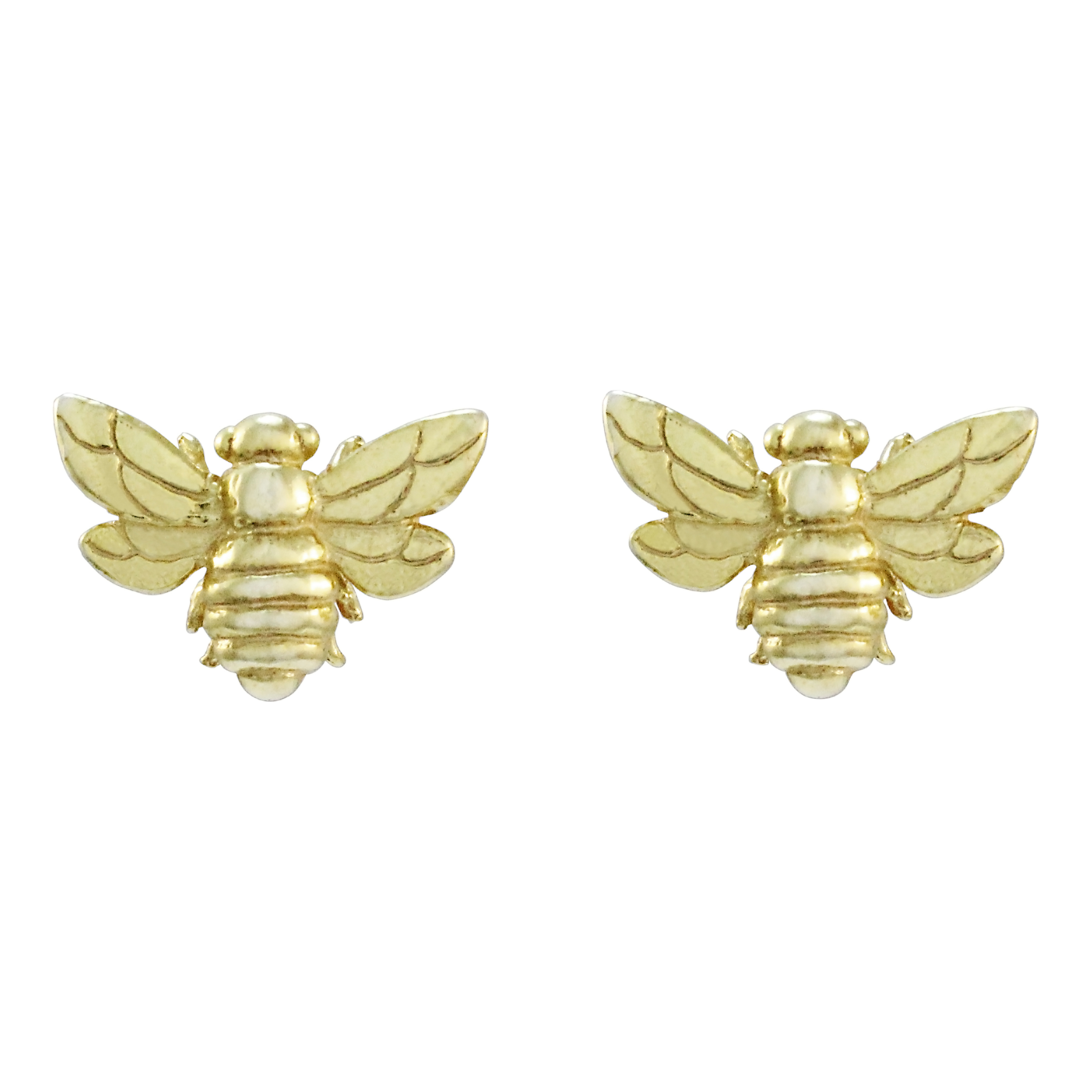 9ct Yellow Gold Bee Earrings