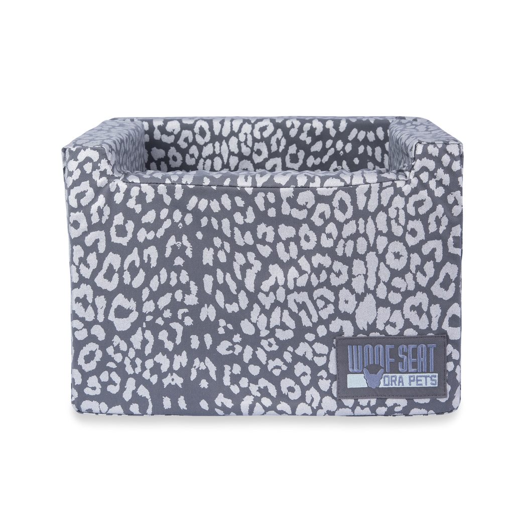 Woof Seat Original - Printed Range - Silver Metallic Animal Print
