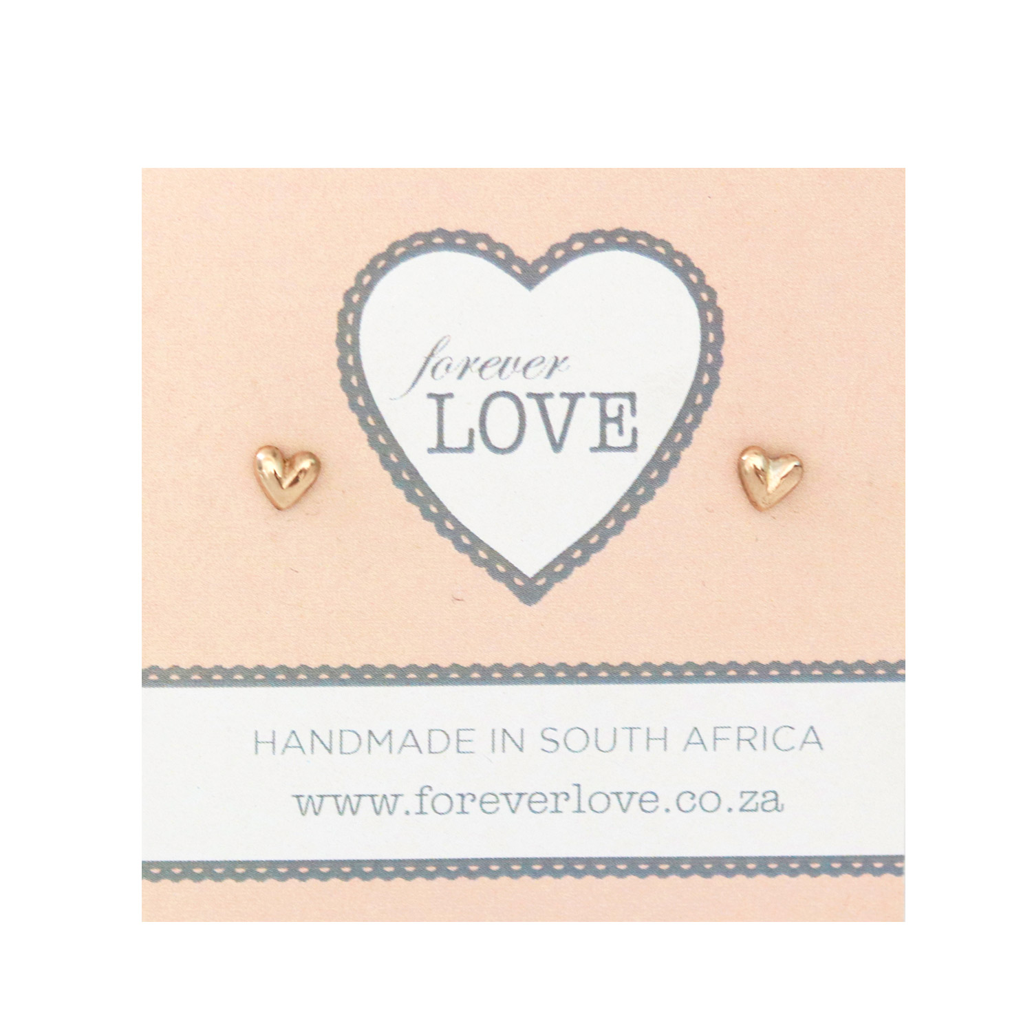 Bronze Fat Heart Studs