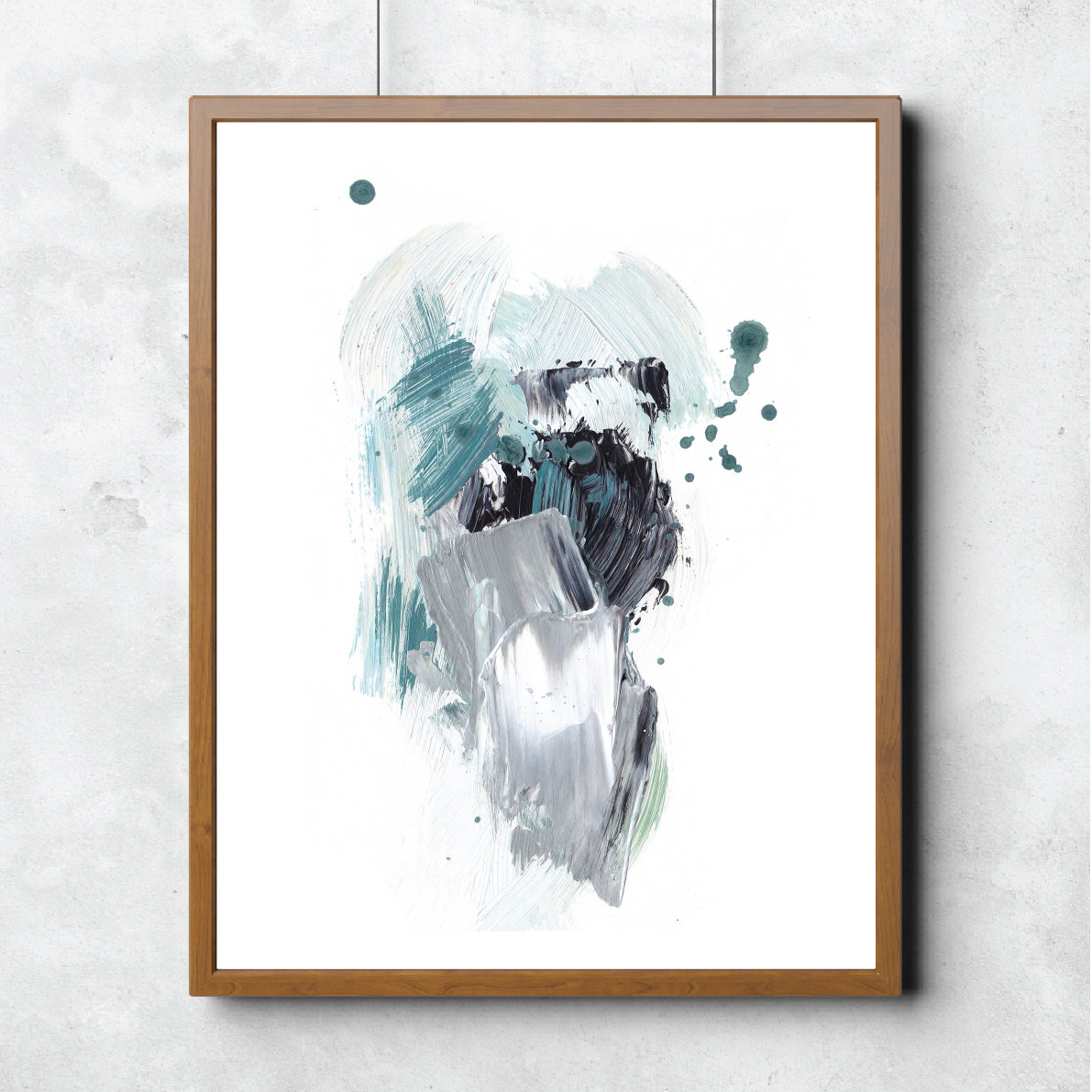 This abstract art print features one of Monja's latest works, and are now available as either an A4 or A3 print for your home.