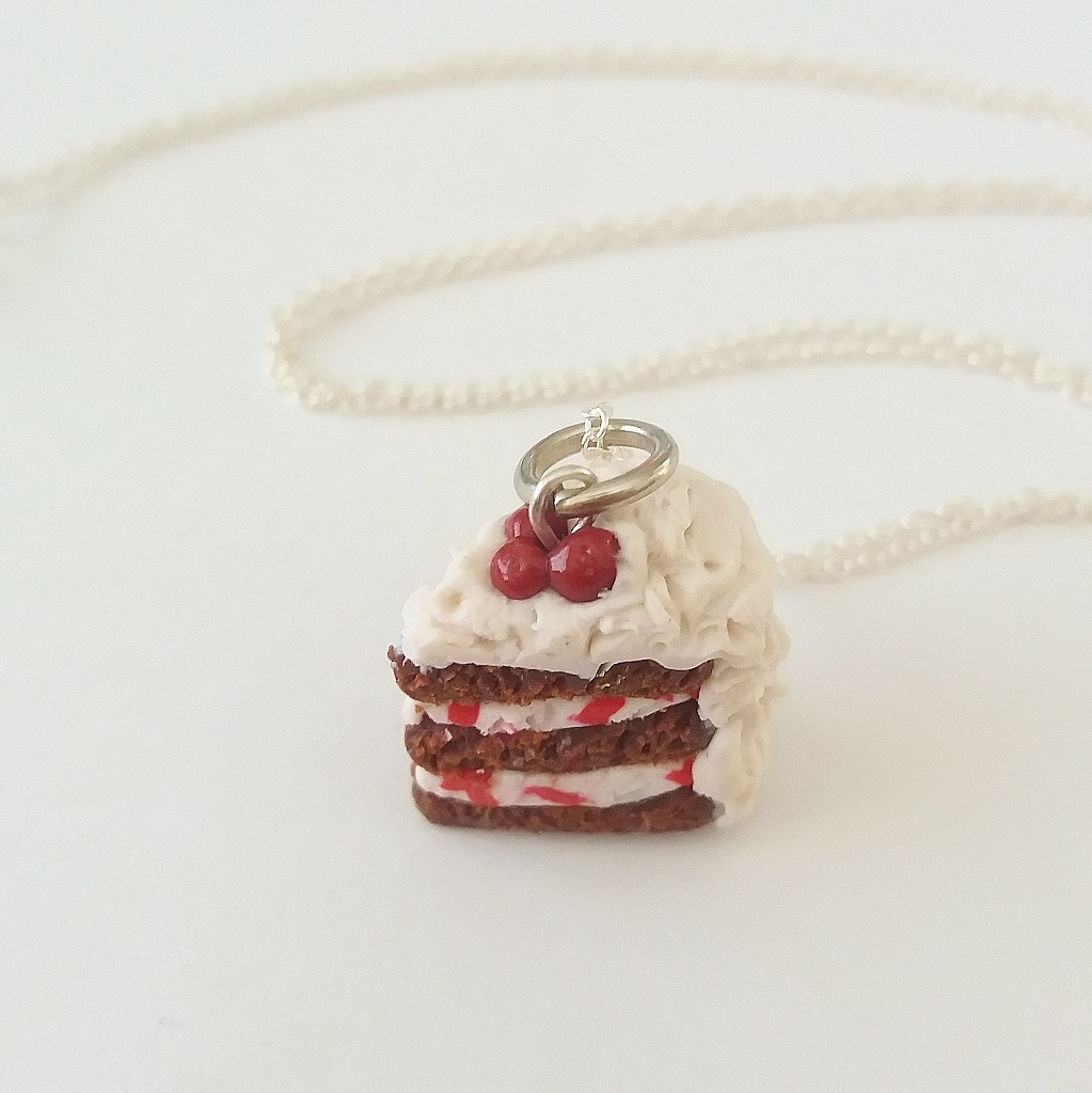 Black forest gateau Charm/ Necklace