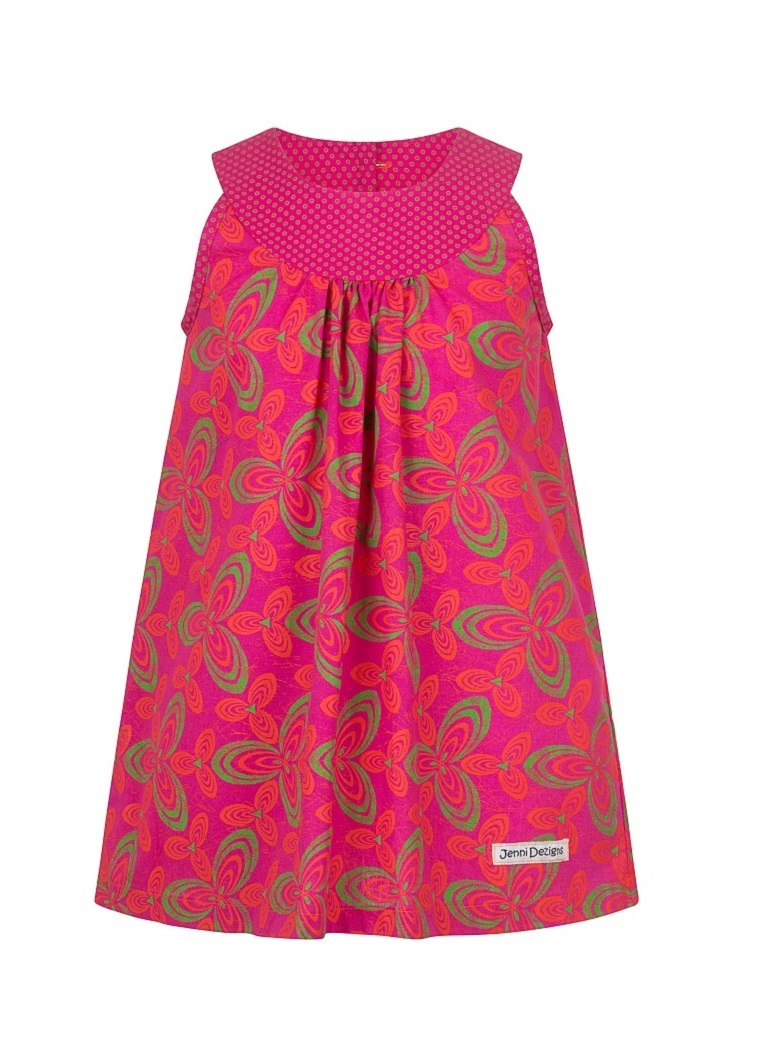 DESCRIPTION  A contrasting round yoke sets off this knee length dress. The back is completed with accent covered buttons!  100% Cotton, ShweShwe. Made in South Africa.  Print detail may vary, but colour options remain as per image.  Refer to product care label for care instructions.  DELIVERY TIME:   Our current completion time to make up your order is1-2 weeks& Shipping will take an additional3-5 working days. You will be notified when you order has been sent.