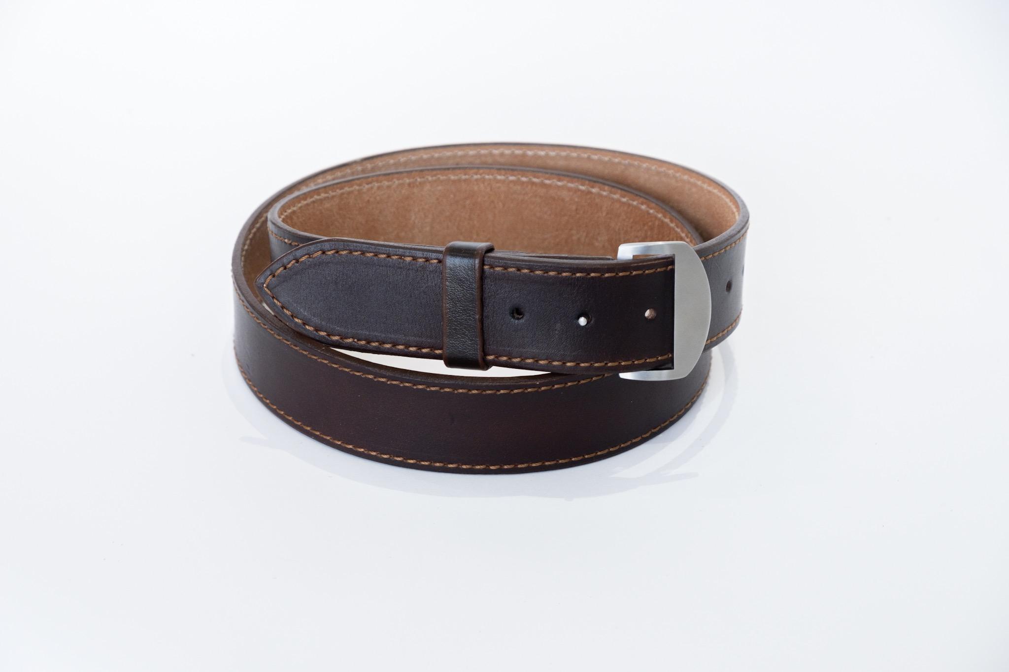 Dark Brown Knife Buckle Belt