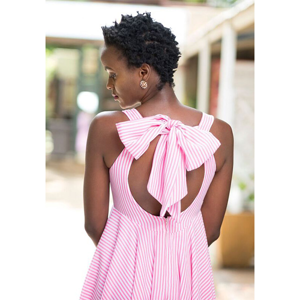 Back bow maxi dress