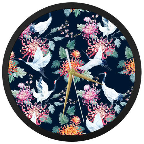 Crane Wall Clock
