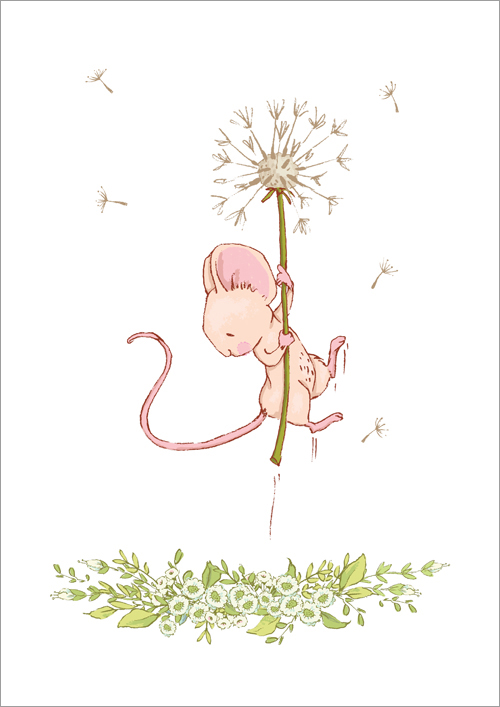 Children's print ~ Dandelion flight
