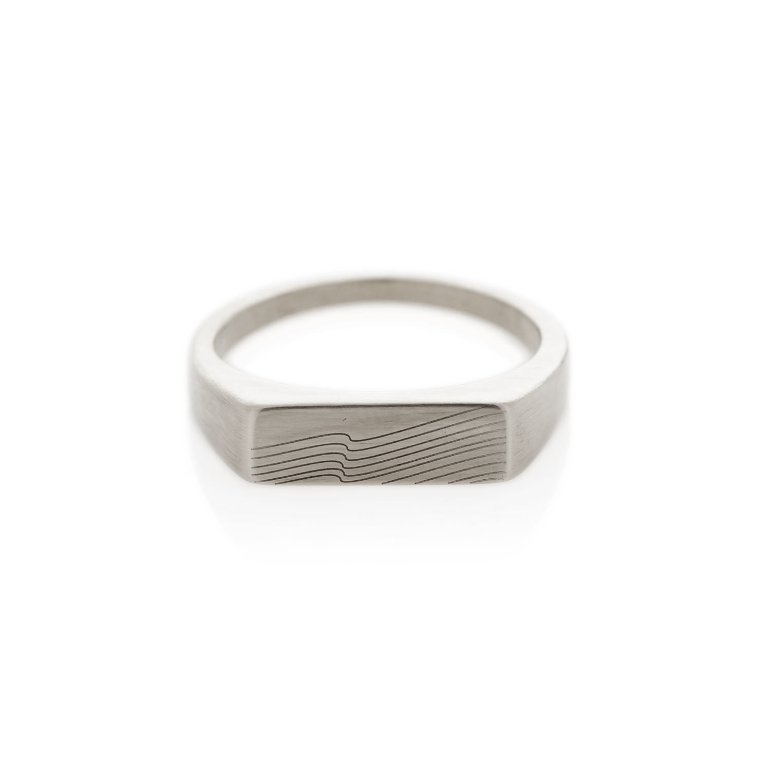 Summit silver rectangle signet ring