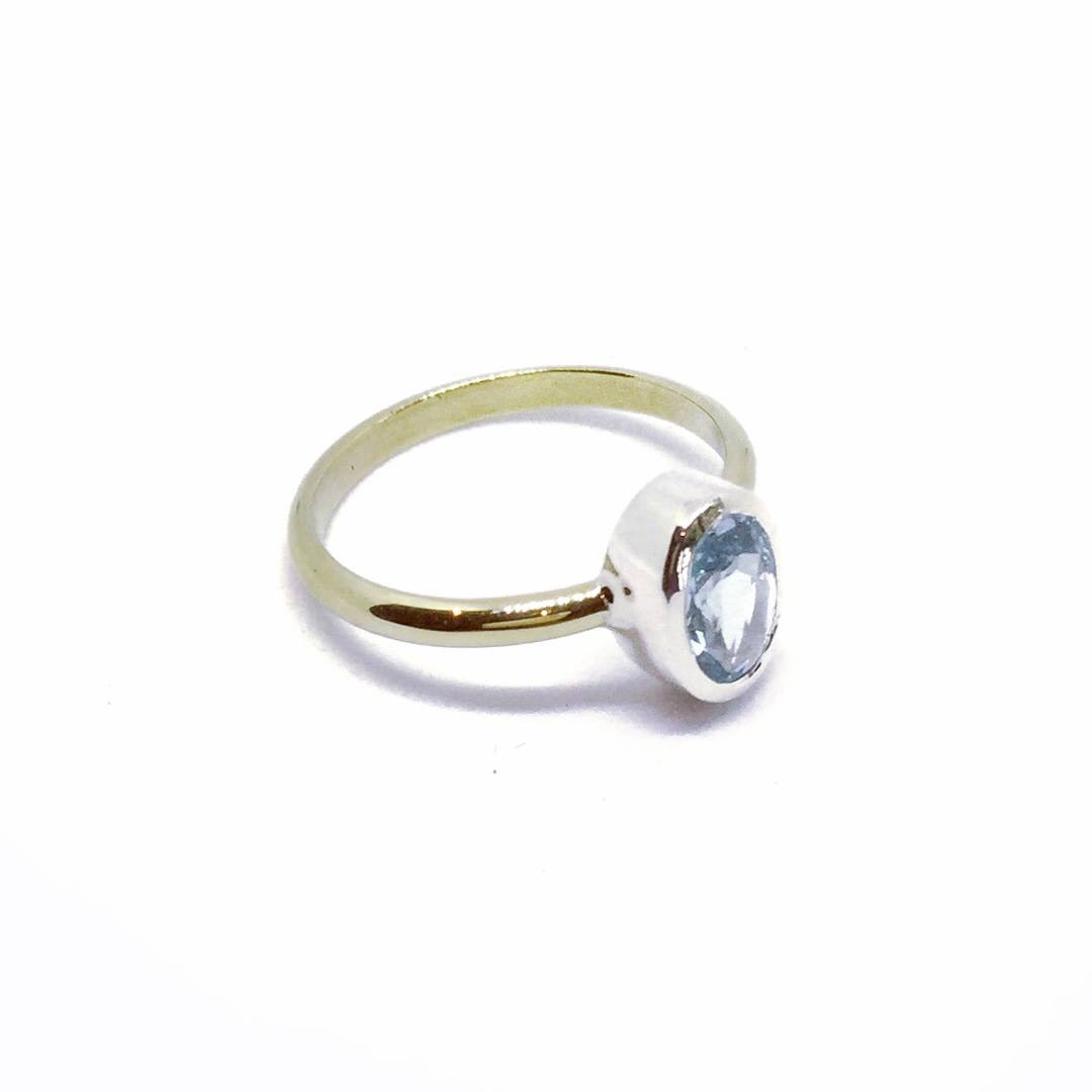 Lola Aquamarine Ring