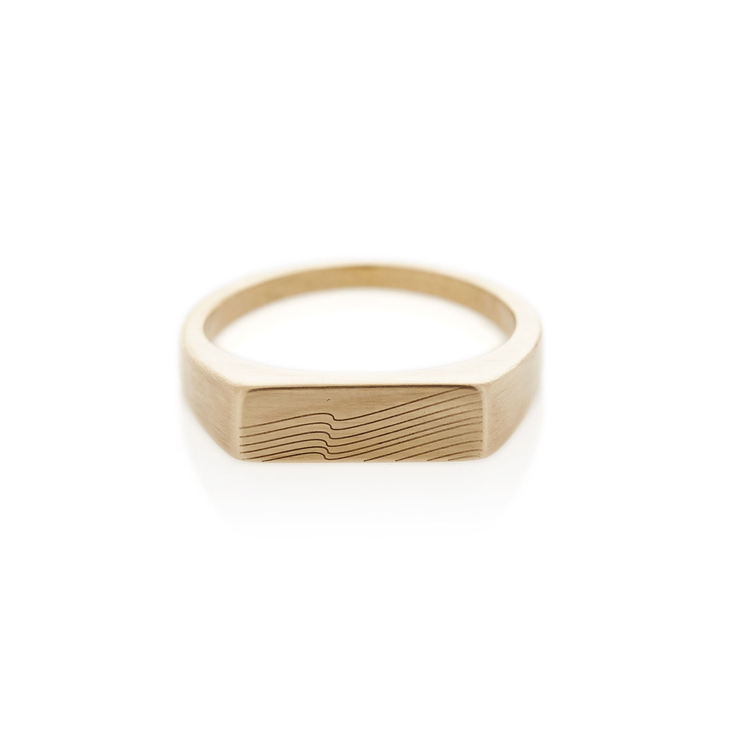 Summit yellow gold rectangle signet ring