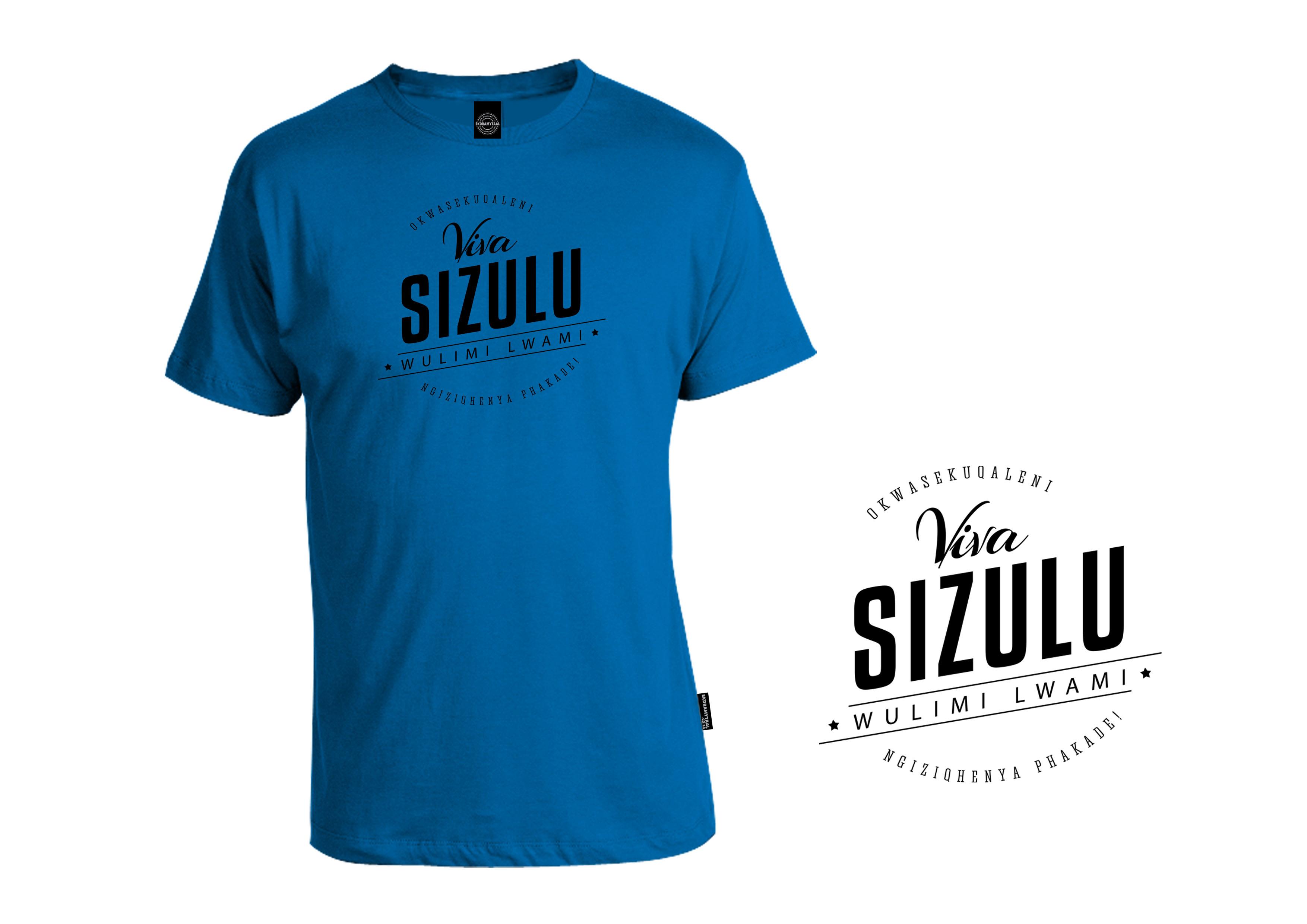 UNISEX - CREW NECK  165 gram - 100% Cotton  Shirt colour : Royal Blue  Print colour : Black