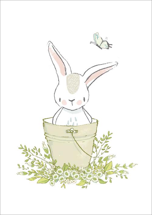 Children's print ~ Bucket Bunny