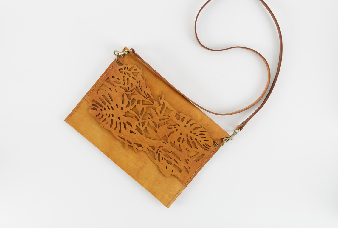 Foliage clutch / sling bag