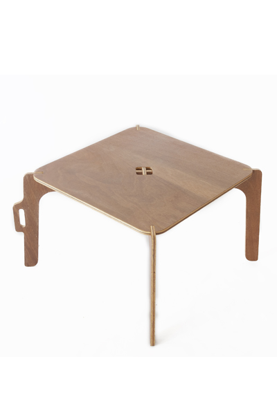 The sprawling stance of this functional table has been designed specially for kiddies at play. Not only can your brood enjoy its practical kid-friendly height but the Half-Jack table is ready to stand up for most childhood activities.