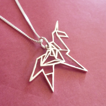 Origami Unicorn sterling silver pendant - based on the design from the classic sci fi movie, Bladerunner ;)  This pendant measures approx. 21x17mm in size, and you have a choice of 45cm or 50cm chains, or no chain :)