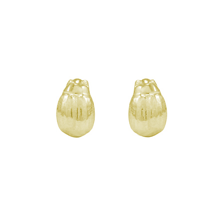 9ct Yellow Gold Tiny Beetle Studs
