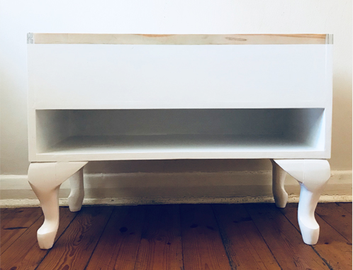 A play on our original Storage Table - this one is a bit more feminine and curvy. I real beauty!