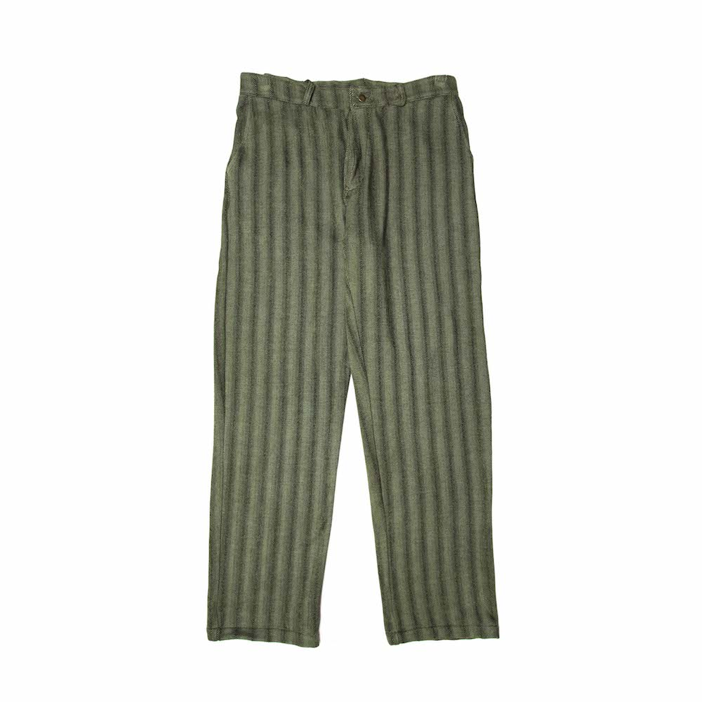 Work Wear Trousers - Olive Herringbone