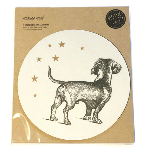 Sausage amongst the stars mousemat